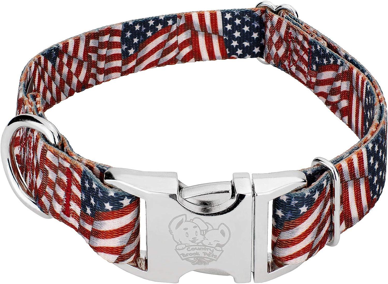 american flag cat collar