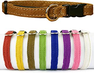 "product image for The Good Dog Company - Hemp Toy Dog Collar, Puppy Dog Collar Available in Red, Yellow, Brown, Green, Blue, Purple, Pink, White, 3/8"" Width, Fits Neck Size 7""-13"" for Small and Teacup Size Tiny Dog"