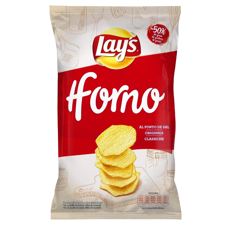 Lays - Al Horno - Patata Horneada con Sal - 130 g: Amazon.es ...