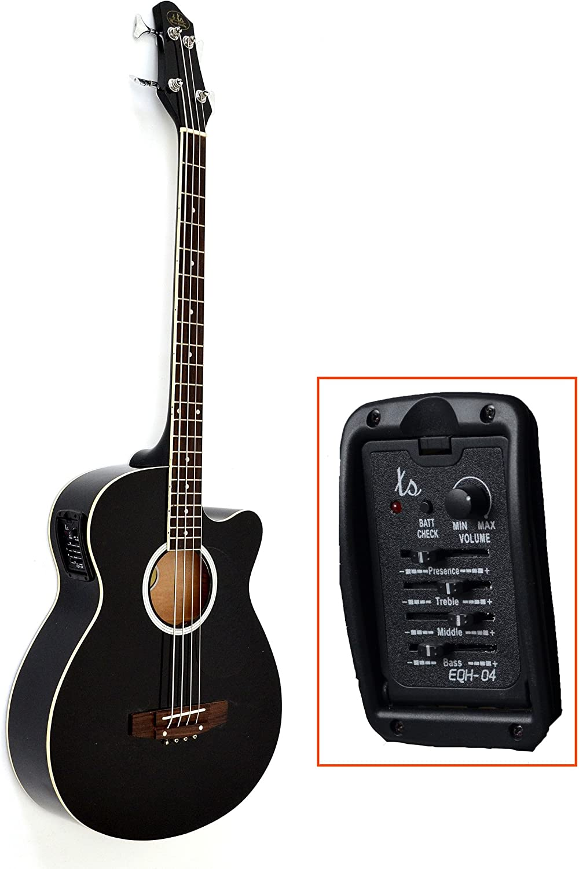 Guitarra, bajo acústico eléctrico con ecualizador activo de 4 ...