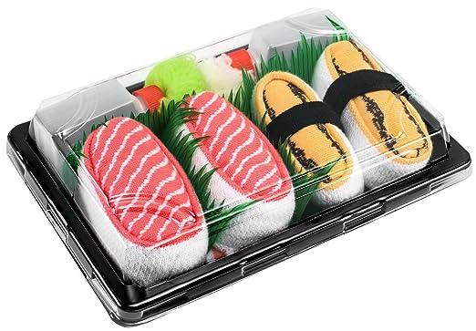 1 Paar Sushi Socken Tamago-Omelett Rainbow Socks Damen Herren