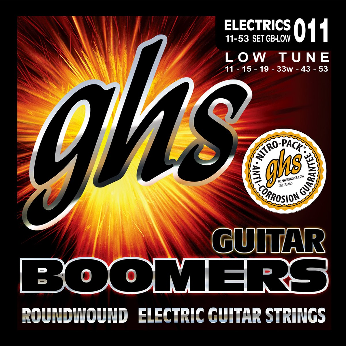 GHS Boomers GB - Cuerdas para guitarra eléctrica (011-053): Amazon.es: Instrumentos musicales