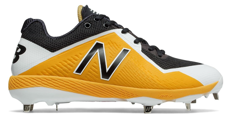 (ニューバランス) New Balance 靴シューズ メンズ野球 4040v4 Black with Yellow ブラック イエロー US 9.5 (27.5cm) B075NZFBHC