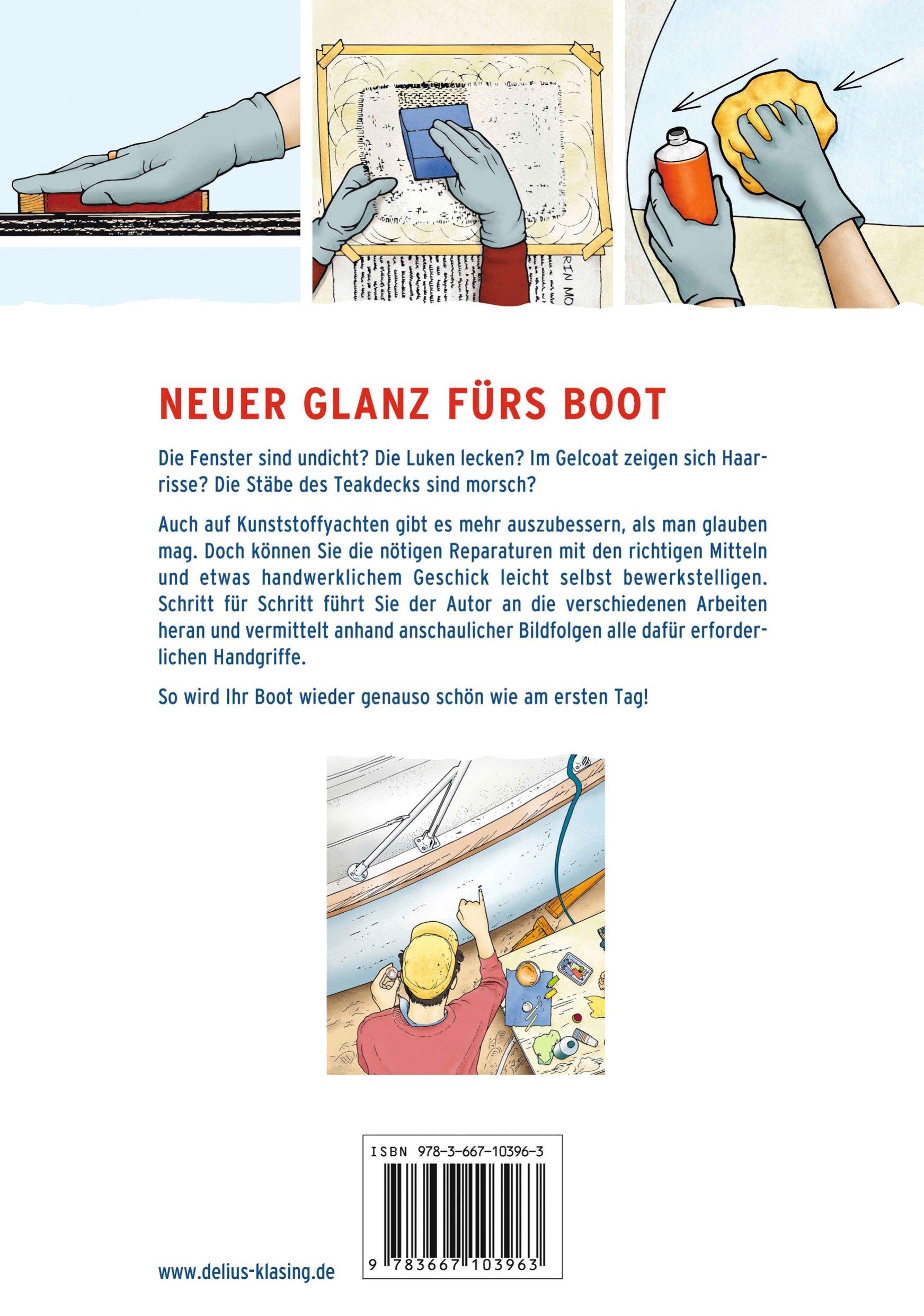 Sachbücher Bücher Schiff Boot Rumpf und Decksreparaturen Reparatur Deck Wartung Pflege Leck Buch