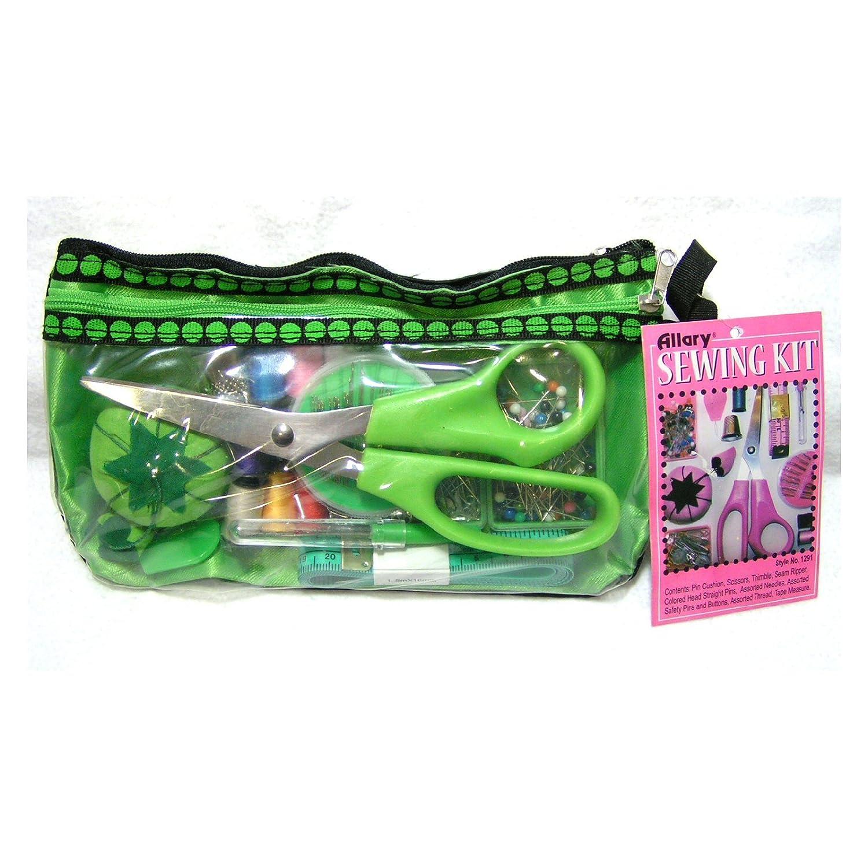 Amazon.com: Allary Beginner\'s Sewing Kit in Decorative Vinyl Case ...