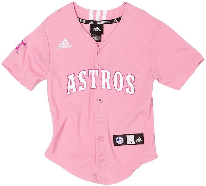 new product b2fcd facce Buy MLB Girls' Houston Astros Screen Print Baseball Jersey ...