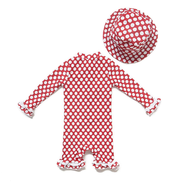 Baby M/ädchen Ein st/ück Lang/ärmelige-Kleidung UV-Schutz 50 Badeanzug MIT Einem Rei/ßverschluss(Blau-ZZ,3-6M)