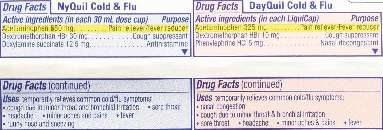 Amazon com vicks dayquil cold flu multi symptom relief