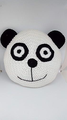 Cojín oso panda hecho a mano a ganchillo(amigurumi): Amazon ...