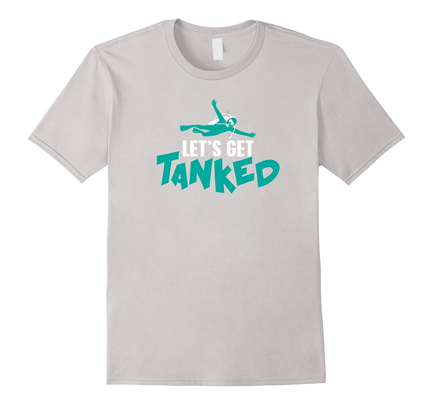 :et's Get Tanked Scuba T-shirt-Rose