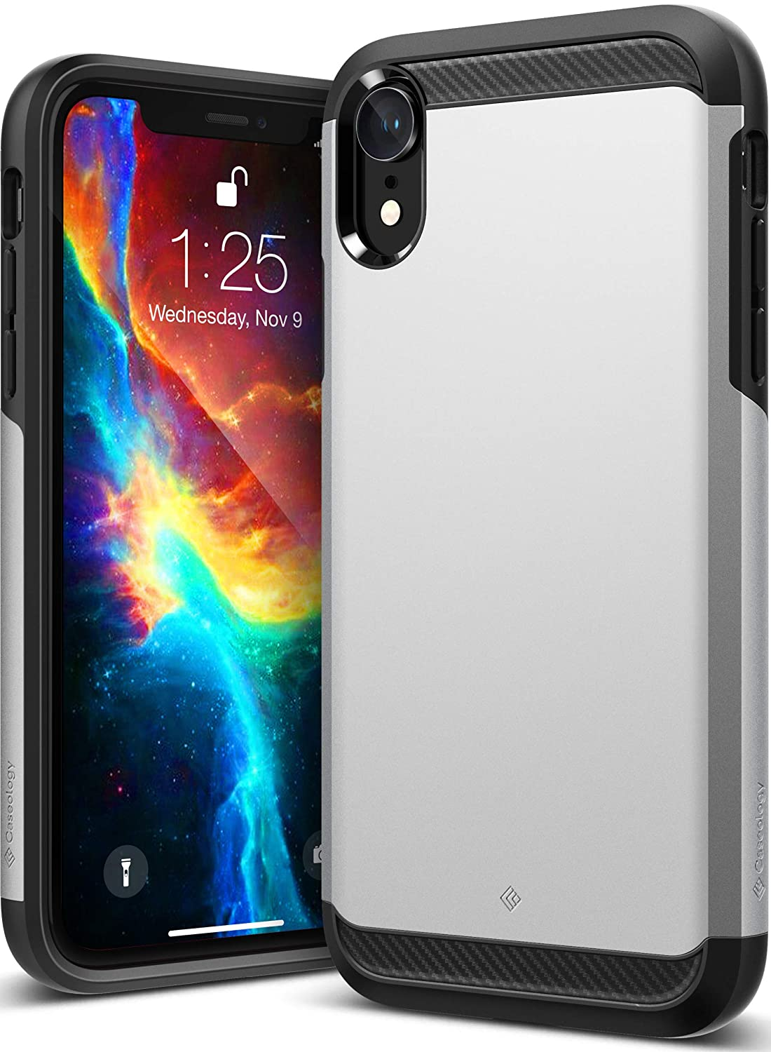 check out b12c0 73517 Caseology Legion for iPhone XR Case (2018) - Reinforced Protection - Silver