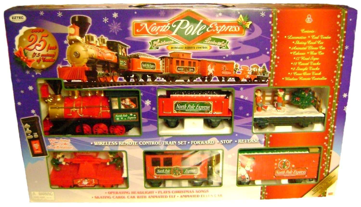 Amazon.com: Eztec 37260 G Scale North Pole Express Christmas Train ...