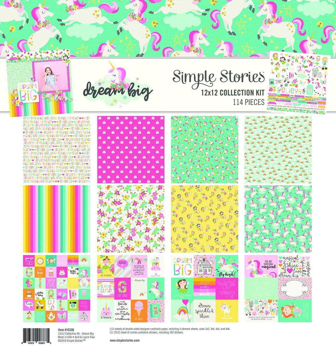 Multi-Colour Large Simple Stories Scrapbook
