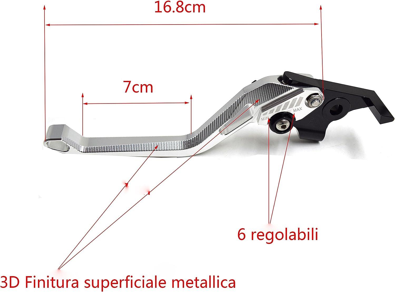 3D m/étalliques Surface Kit Levier dembrayage et levier de frein pour ZX6R 2000-2004//ZX10R 2004-2005//Z1000 2003-2006//VERSYS 1000 2012-2014//ZZR600 2005-2009//ZX9R 2000-2003//ZX12R 2000-2005 Noir