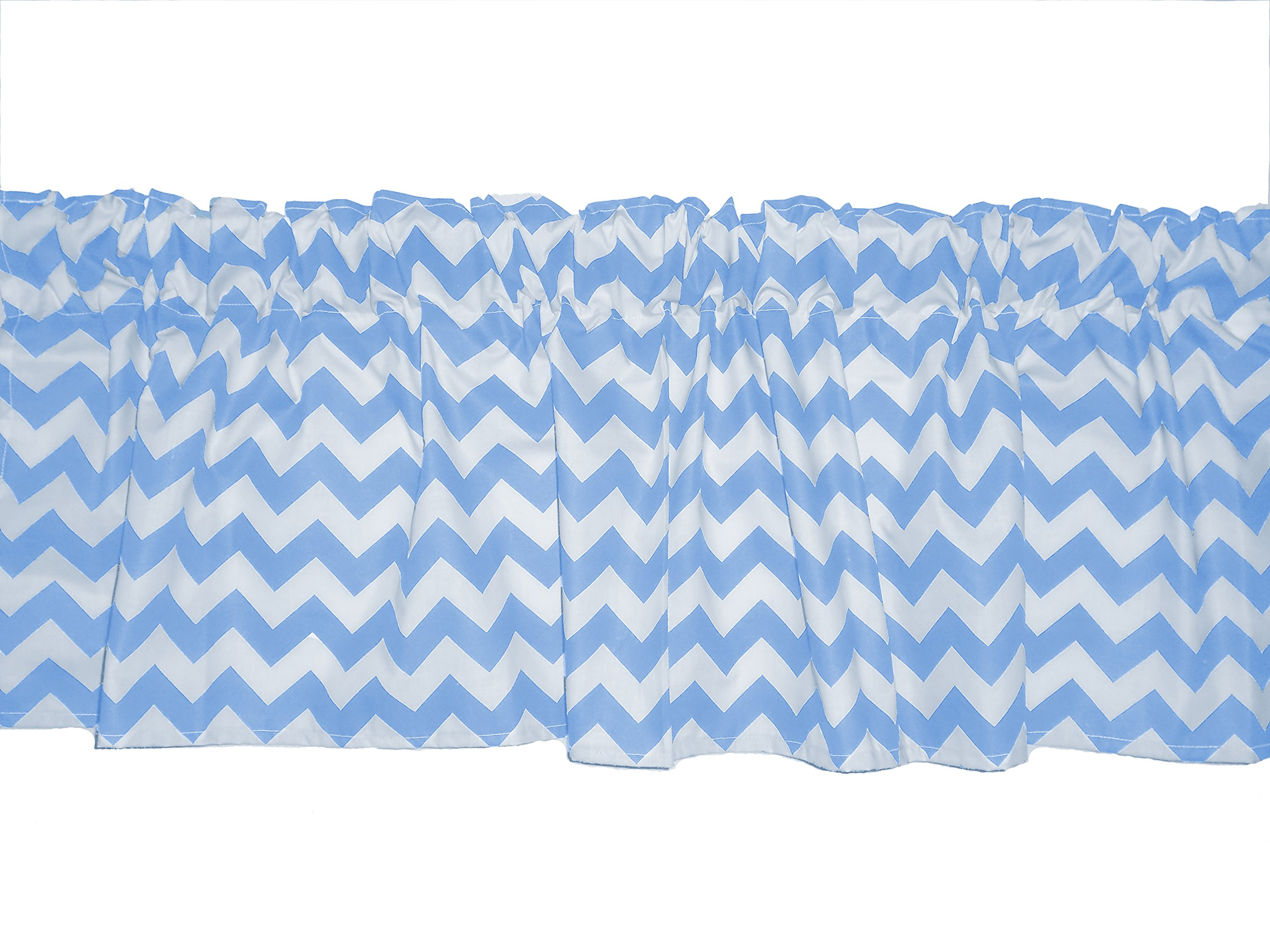 Baby Doll Bedding Chevron Window Valance, Blue by BabyDoll Bedding