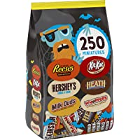 HERSHEY'S Bulk Halloween Chocolate Candy Variety Mix, (HEATH, HERSHEY'S, KIT KAT, MILK DUDS, REESE'S, WHOPPERS) 81.4 Ounce