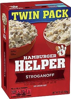 Betty Crocker Hamburger Helper and Stroganoff Pasta