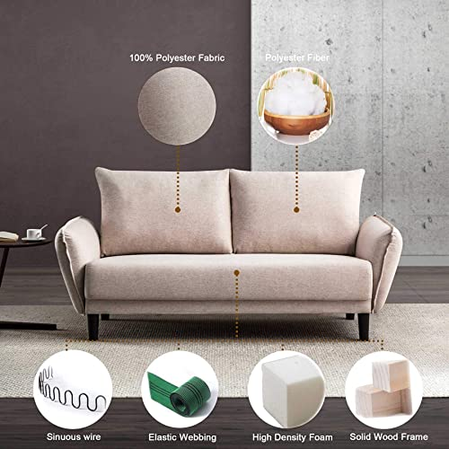 Modern Loveseat Sofa Couch Upholstered Fabric 2 Seats Sofa