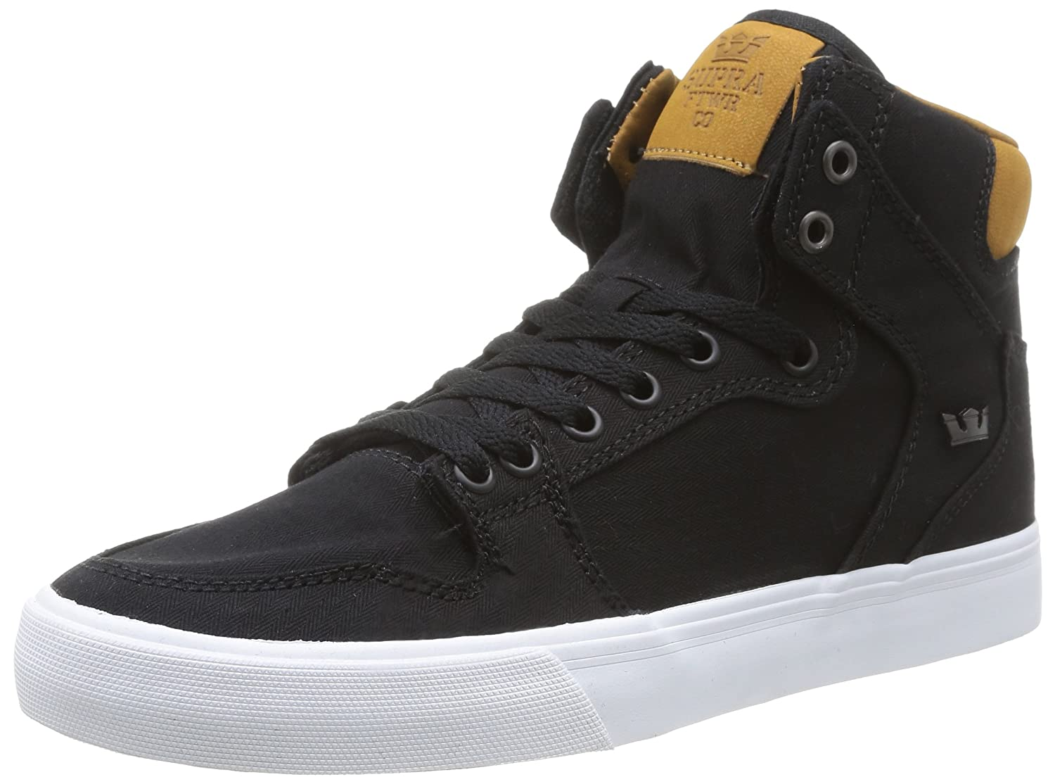 Supra Vaider LC Sneaker B00LU0I1MI Medium / 11.5 C/D US Women / 10 D(M) US Men|Black/Brown/White