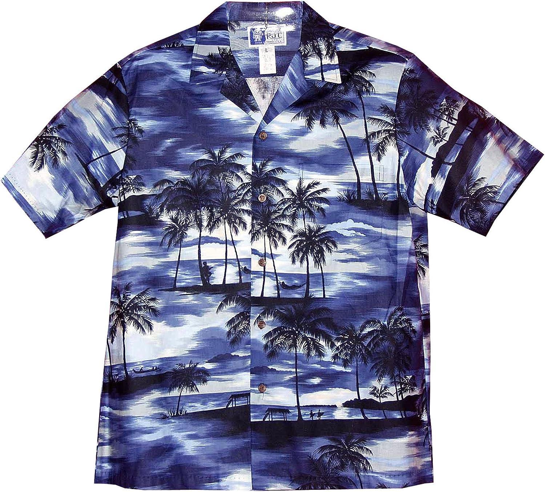 RJC Men's Night Time Surf Hawaiian Shirt