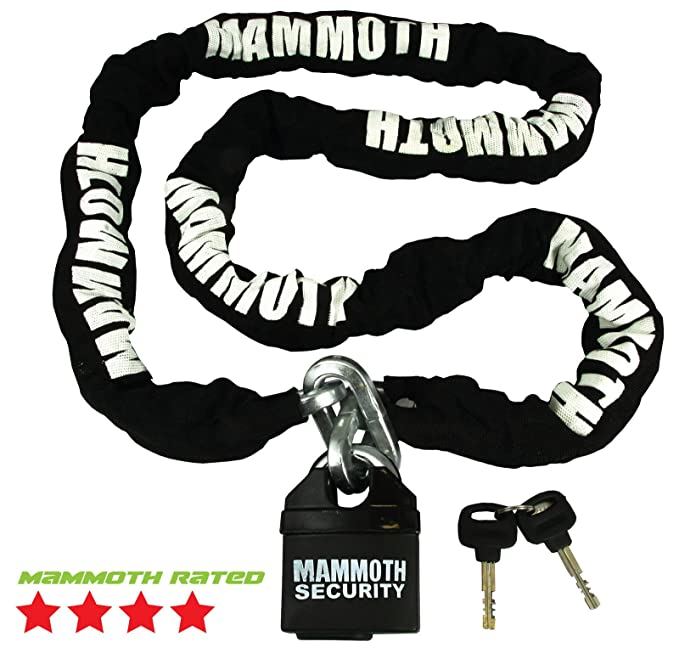 1.8M Motorbike Motorcycle Cycle Chain Security Lock /& Blue Ground Anchor Scooter
