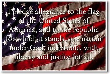 Amazon.com: I Pledge Allegiance to the Flag of the USA - Classroom ...