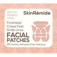 Gezichtspatches om vloeiende lijnen en rimpels, SkinRemide Anti Rimpel 165 Clear Adhesive Patches.Verschillende vormen…