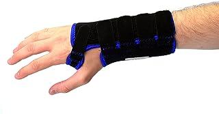 MEGLIO Attelle de poignet respirante – Armature métallique – Soulage la douleur et maintien le poignet – Récupération rapide après blessure (M Main gauche)