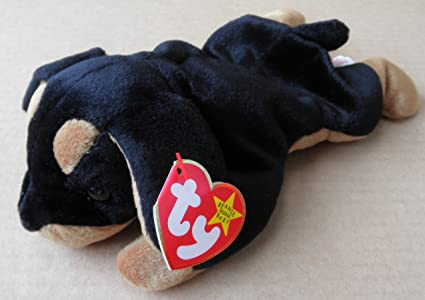 afcac3b97fe Image Unavailable. Image not available for. Color  TY Beanie Babies Doby  the Dog ...