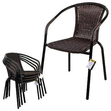 Fabulous Marko Outdoor Bistro Chair Outdoor Tan Wicker Rattan Woven Seat Black Metal Frame Patio Seats Home Interior And Landscaping Mentranervesignezvosmurscom