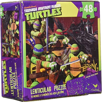 Teenage Mutant Ninja Turtles 48 Piece Lenticular 3-D Puzzle
