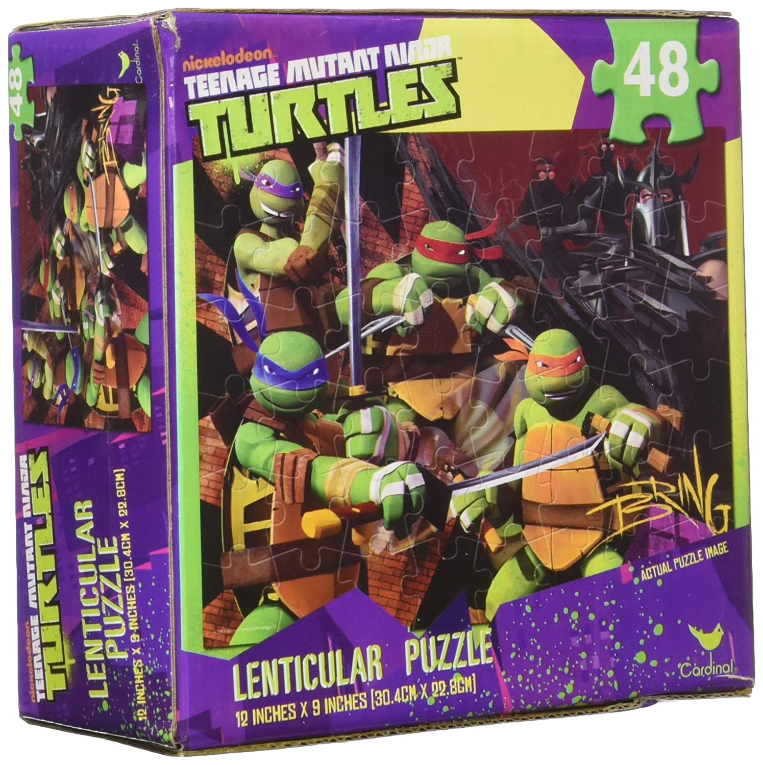 Teenage Mutant Ninja Turtles 48 Piece Lenticular 3-D Puzzle