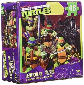 Teenage Mutant Ninja Turtles 48 Piece Lenticular 3-D Puzzle ...