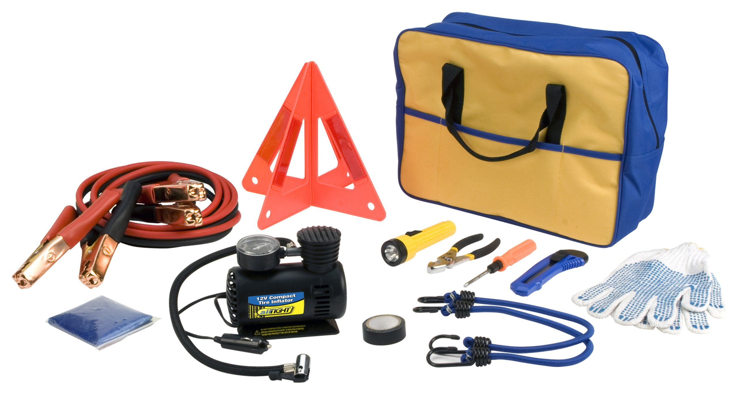 Performance Tool 60220 Premium Roadside Emergency Kit With Jumper Cables by Performance Tool