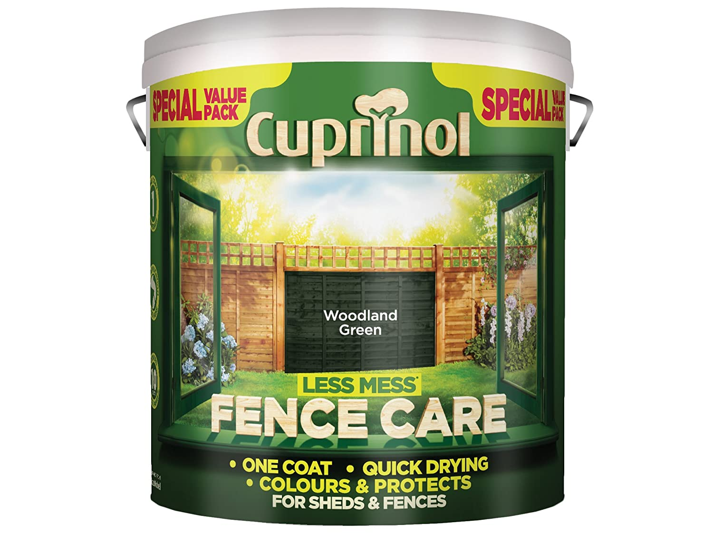 Cuprinol LMFCWG6L Less Mess Fence Care Woodland Green 6 Litre, 6l