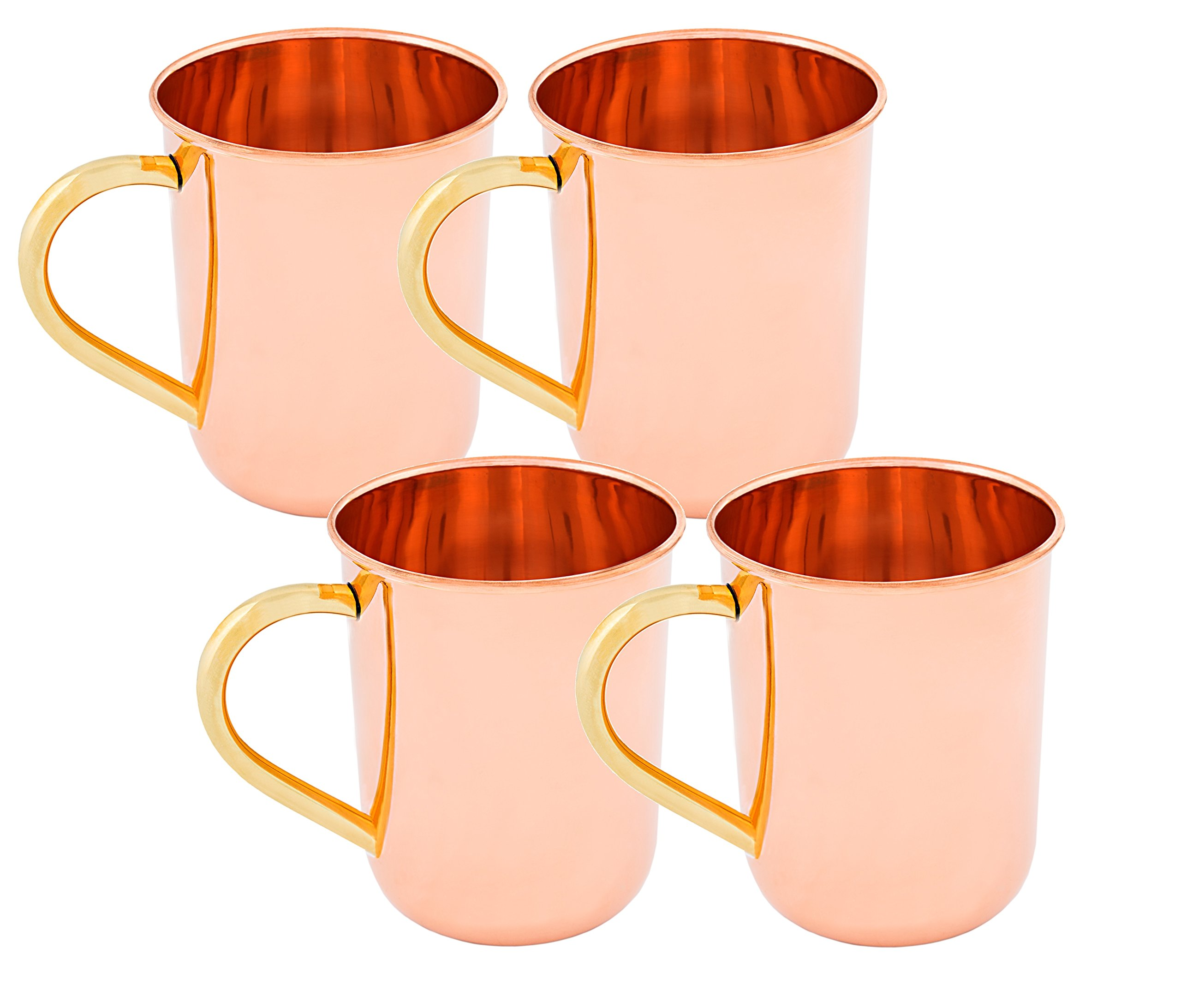 Old Dutch Straight Sided Moscow Mule Mug, 14-Ounce, Set of 4