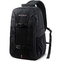 K&F Concept® Kameratasche, Messenger Fototasche/Sling Rucksack für Canon Nikon Sony Kamera mit Stativhalterung, Laptopfach, Schnellzugriff und Regenschutzhülle Schwarz (S)