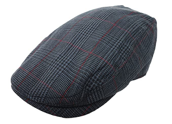Plaid Pattern Ivy Driver Hunting Flat Newsboy Hat Charcoal at Amazon ... 5769c9ab318