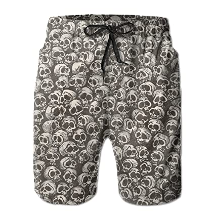 324716007b Image Unavailable. Image not available for. Color: Men's Skeletons Skull  Board Shorts ...