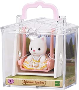 Sylvanian Families 5201 Cat on Swing Baby Carry Case, Multicolor