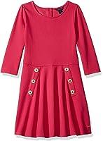 Tommy Hilfiger Big Girls' 3/4 Solid Pique Dress