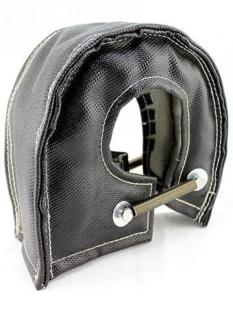 SWI Parts T4 Fiberglass Turbo Shield Turbo Blanket High Temperature (Black)