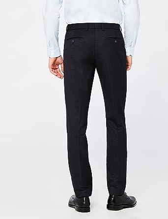 Hem /& Seam Pantaloni Formali Slim Fit Uomo Rosso W34//L31 Taglia Produttore: 34 Burgundy