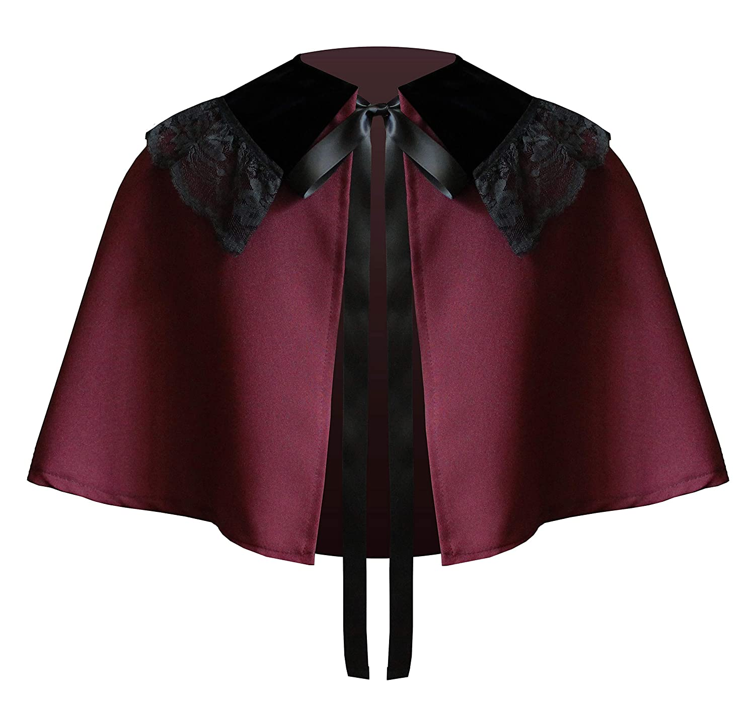 Victorian Clothing, Costumes & 1800s Fashion Steampunk Victorian Gothic Medieval Theater Western Renaissance Civil War Stage Theater Collar Capelet $34.99 AT vintagedancer.com