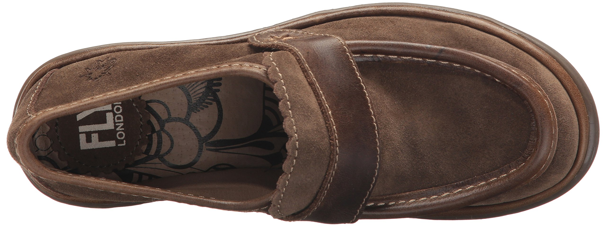 FLY London Women's WEND764FLY Penny Loafer, Sludge/Olive Oil Suede/Rug, 39 M EU (8-8.5 US) by FLY London (Image #8)
