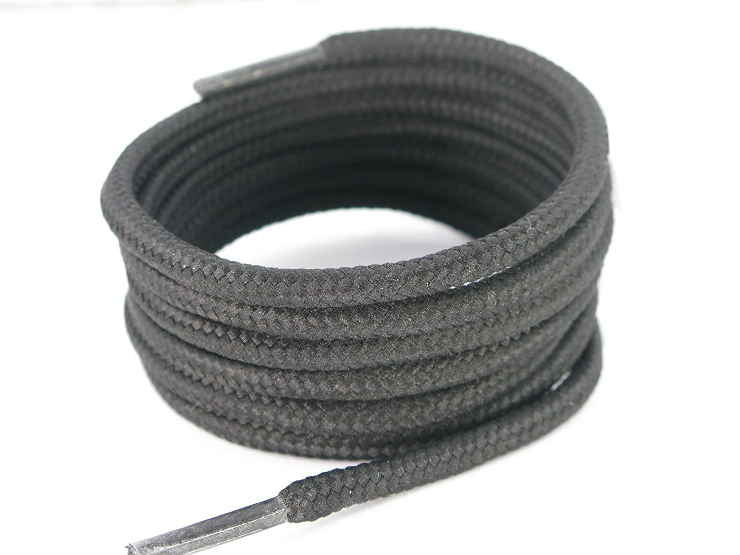 b291cd2752 140cm Long, 5mm wide Round Black Boot laces, 2 PAIR PACK: Amazon.co.uk:  Shoes & Bags