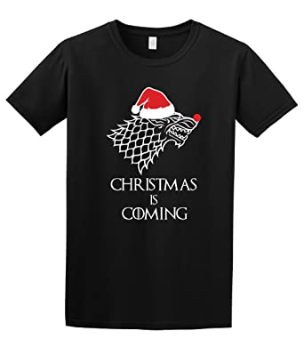 fdcd34b61 Christmas is Coming - Game of Thrones Stark TV Inspired T-Shirt:  Amazon.co.uk: Clothing