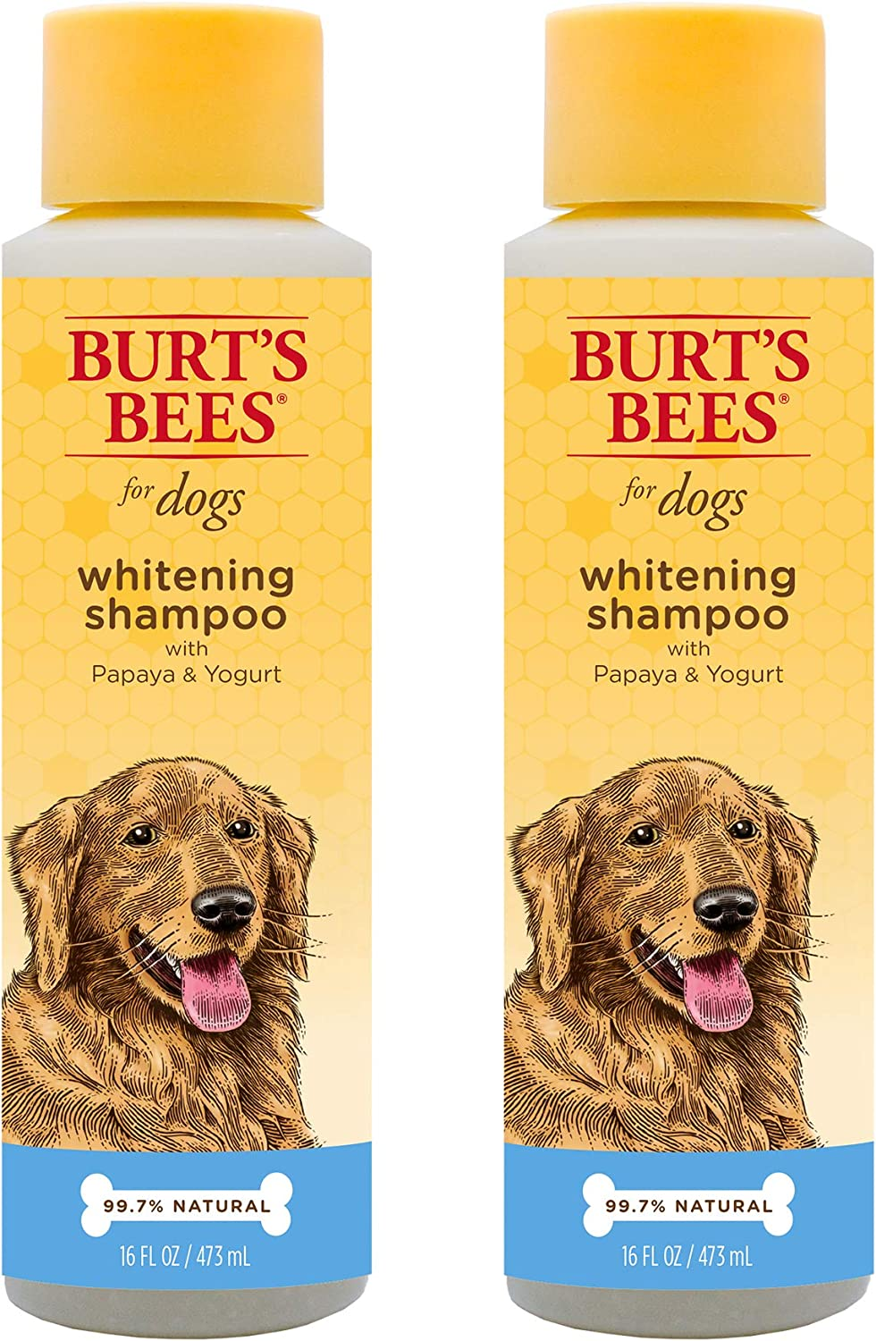Burt's Bees for Dogs Natural Whitening Shampoo with Papaya and Yogurt | Puppy and Dog Shampoo, 16 Ounces