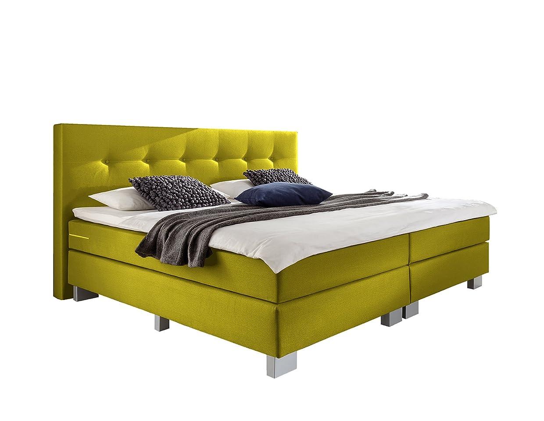 wellness edition 18400 boxspringbett gelb taschenfederkern taschenfederkern 140 x 200 cm. Black Bedroom Furniture Sets. Home Design Ideas