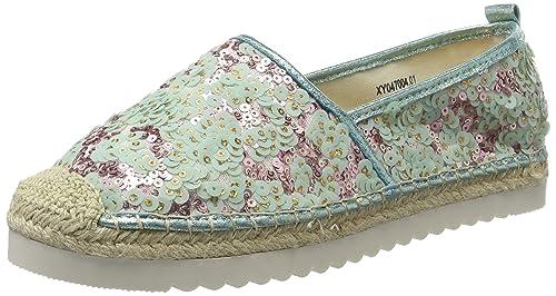 XYXYX Alpargatas para Mujer, Verde (Green 01), 40 EU: Amazon.es: Zapatos y complementos